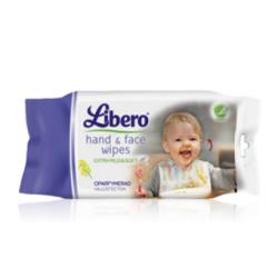 Libero - 20 Lingettes visage et mains pour bébés