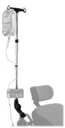 Porte sérum pour rollator standard