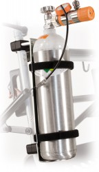 Porte bouteille d'oxygène pour rollator standard