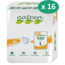 16 paquets de Nateen Flexi Soft Large