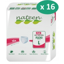 16 paquets de Nateen Flexi Plus Large