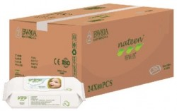 12 paquets de Nateen Wet Wipes - 960 lingettes