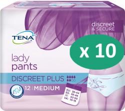 10 paquets de Tena Lady Silhouette Plus