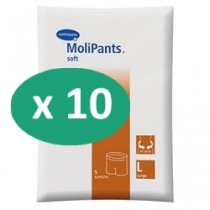 10 paquets de Hartmann MoliPants Soft Large