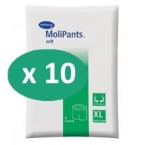 10 paquets de Hartmann MoliPants Soft XL
