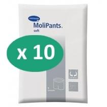 10 paquets de Hartmann MoliPants Soft XXXL