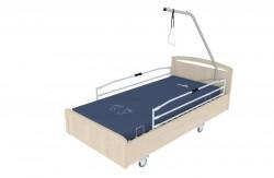 Lit BOX® médicalisé sur roues avec barrières et potence