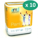 AMD Pant Extra Medium - 10 paquets de 14 protections