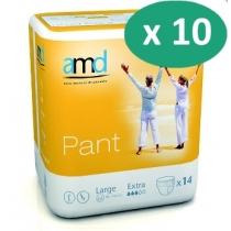 10 paquets de AMD Pant Extra Large