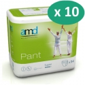 AMD Pant Super Large - 10 paquets de 14 protections