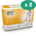 AMD Slip Extra Medium - 8 paquets de 20 protections