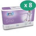 AMD Slip Maxi XL - 8 paquets de 20 protections