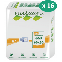 16 paquets de Nateen Mati Soft 60 x 60 cm