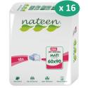 Nateen Mati Plus 60 x 90 cm - 16 paquets de 10 alèses