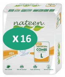 16 paquets de Nateen Combi Soft Large