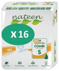 16 paquets de Nateen Combi Super Soft Small