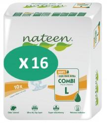 16 paquets de Nateen Combi Super Soft Large