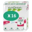 Nateen Combi Plus Small - 16 paquets de 10 protections