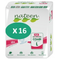 16 paquets de Nateen Combi Plus Large