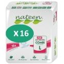 Nateen Combi Plus Large - 16 paquets de 10 protections