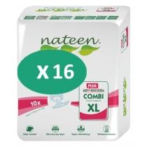 16 paquets de Nateen Combi Plus XL