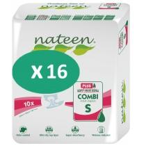 16 paquets de Nateen Combi Super Plus Small