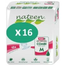 16 paquets de Nateen Combi Super Plus Medium