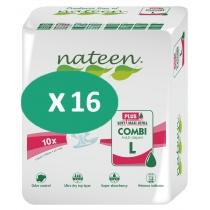 16 paquets de Nateen Combi Super Plus Large