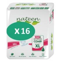 16 paquets de Nateen Combi Super Plus XL