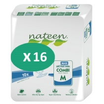 16 paquets de Nateen Combi Maxi Medium