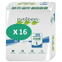16 paquets de Nateen Combi Maxi Large