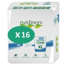 16 paquets de Nateen Combi Maxi XL