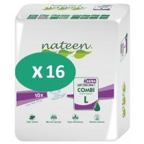16 paquets de Nateen Combi Super Ultra Large