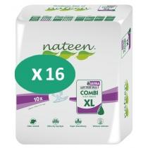 16 paquets de Nateen Combi Super Ultra XL
