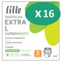 Lille Suprem Pants Extra Large - 16 paquets de 14 protections