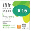 Lille Suprem Pants Maxi Large - 16 paquets de 14 protections
