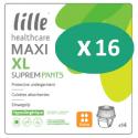 Lille Suprem Pants Maxi XL - 16 paquets de 14 protections