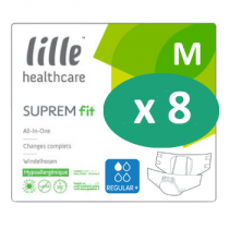 8 paquets de Lille Suprem Fit Regular Plus Medium
