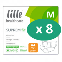 8 paquets de Lille Suprem Fit Extra Plus Medium