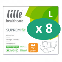 8 paquets de Lille Suprem Fit Extra Plus Large