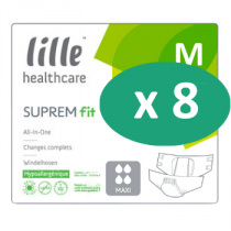 8 paquets de Lille Suprem Fit Maxi Medium