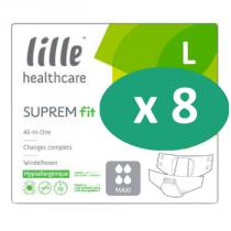 8 paquets de Lille Suprem Fit Maxi Large