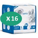ID Pants Plus Large - 16 paquets de 14 protections