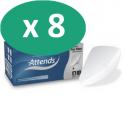 ATTENDS For Men Shield 1 - 8 paquets de 25 protections