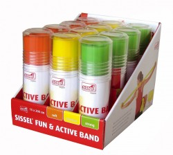 Set de 3 x 4 Bandes fitness SISSEL® FUN & ACTIVE BAND