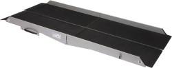 Large rampe d'accès double pliable en aluminium