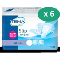 6 paquets de Tena Slip Maxi Large Plastique