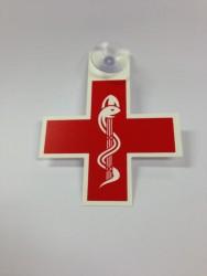 Caducée - Croix pour professionnels de la santé avec ventouse
