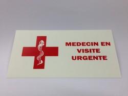"""Plaque """"visite"""" pour professionnels de la santé"""