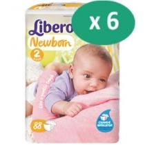 6 paquets de Libero Newborn 2